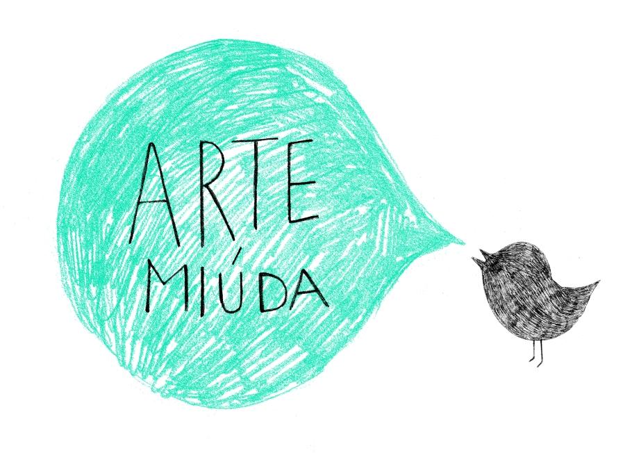 Logotipo e imagen de Arte Miúda diseñado por Clara Pisón López