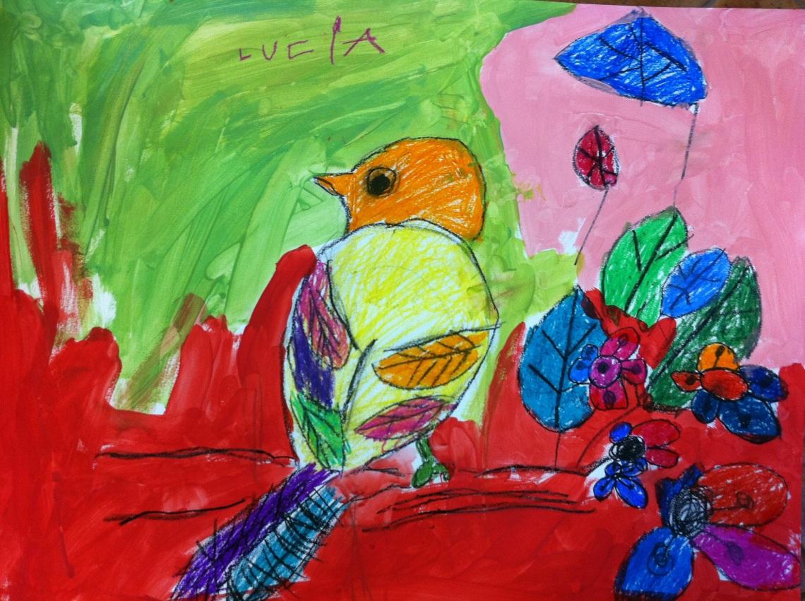 Lucía, 5 años. Arte Miúda, Vigo.