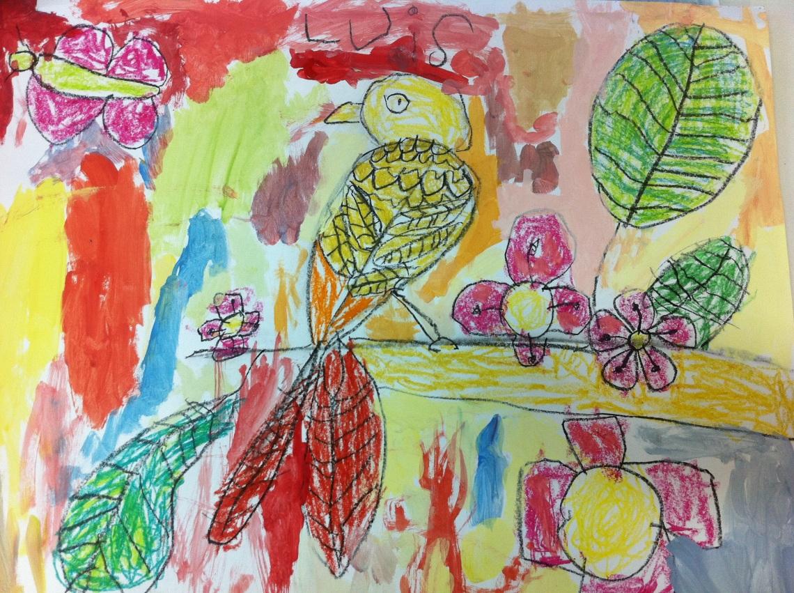 Luis, 4 años. Arte MIúda, Vigo.