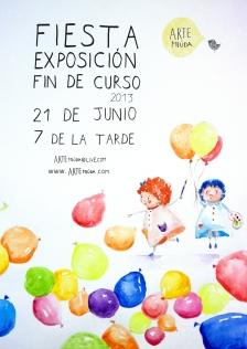 cartel fiesta finde curso 2013
