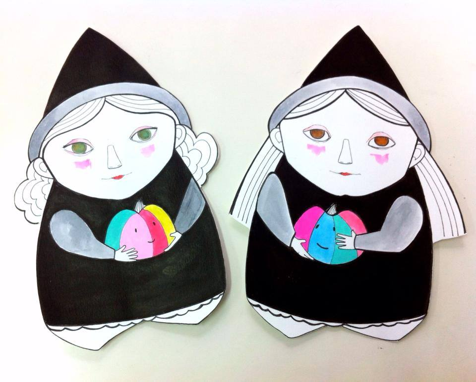 Brujitas Eila y Clara de Arte Miúda