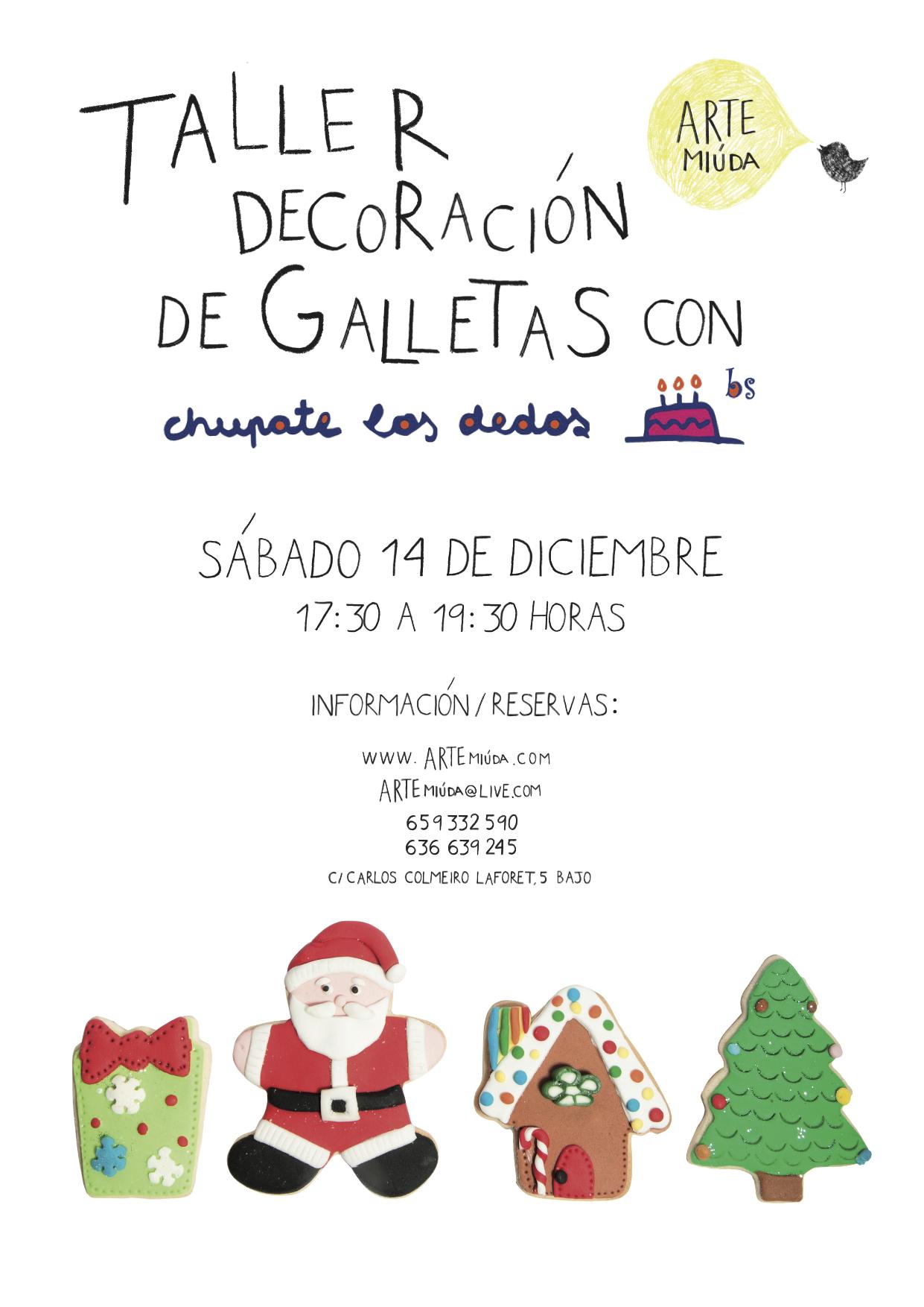cartel sp galletas navidad arte miuda