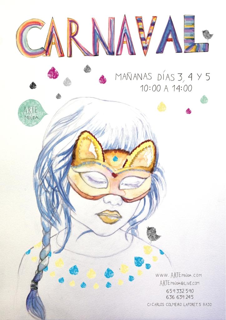 Diseño de cartel por Eila Pérez Vázquez, basado en Naír, una preciosa Artista Miúda muy romántica.©Arte Miúda