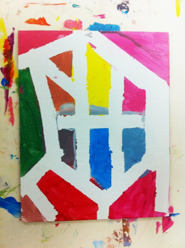 Un Mondrian para Papa. ©Arte Miuda 2014-14