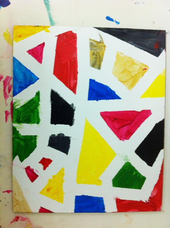 Un Mondrian para Papa. ©Arte Miuda 2014-15