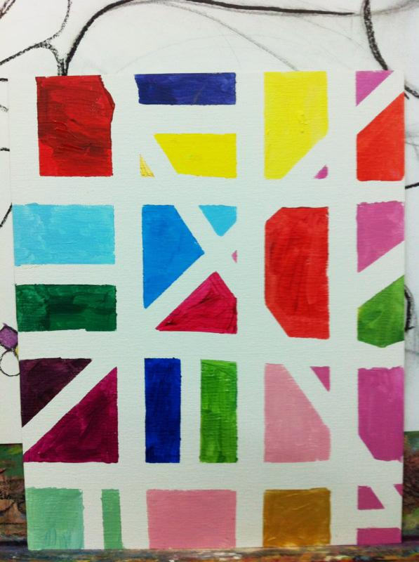 Un Mondrian para Papa. ©Arte Miuda 2014-5