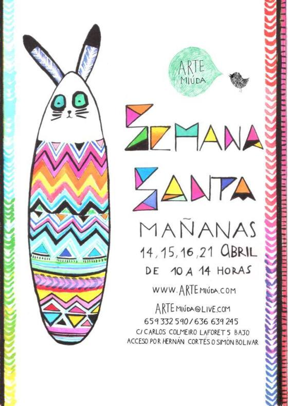Diseño cartel por Eila Pérez Vázquez, Arte Miúda 2014