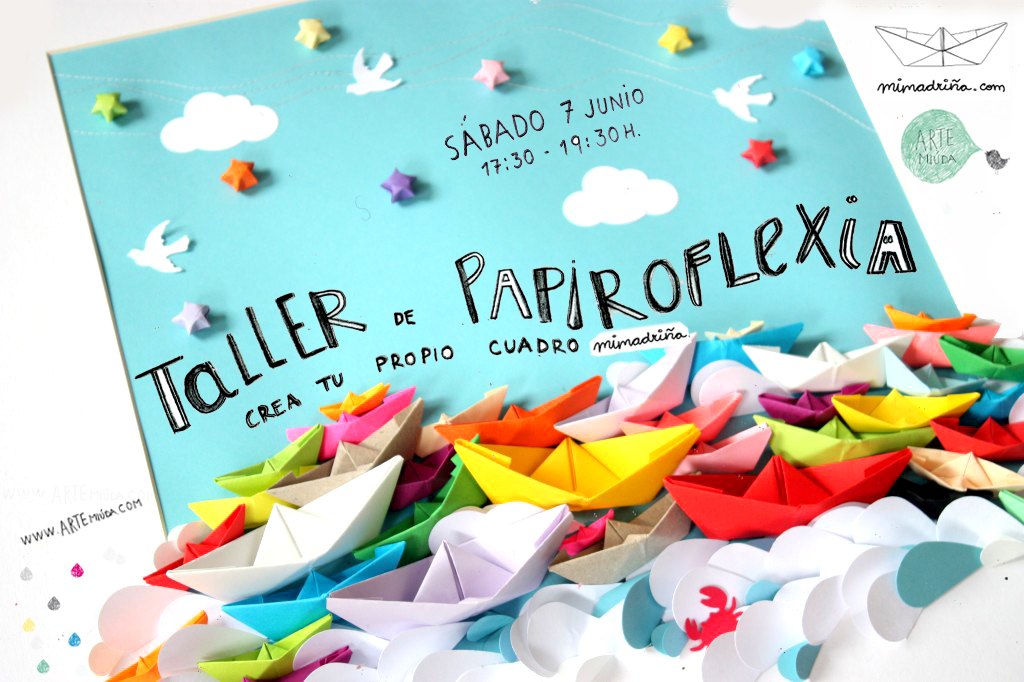 7 junio 2014.Cartel Taller pairoflexia Mimadriña