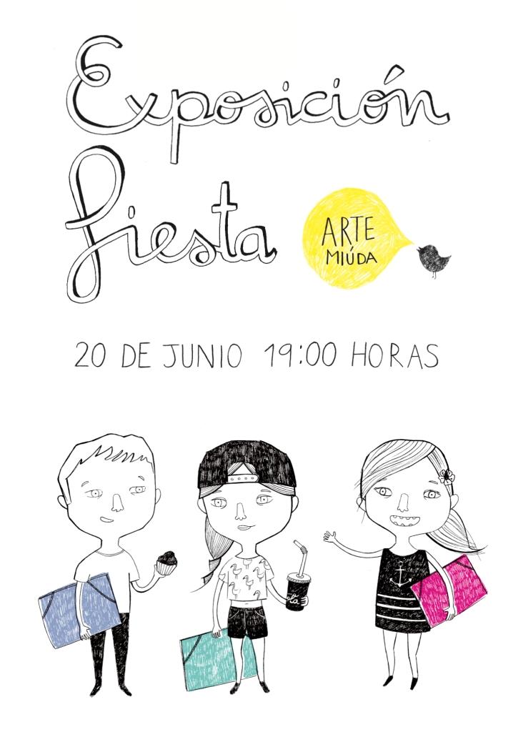 Cartel fiesta de fin de curso 2014© Clara Pisón López, Arte Miúda