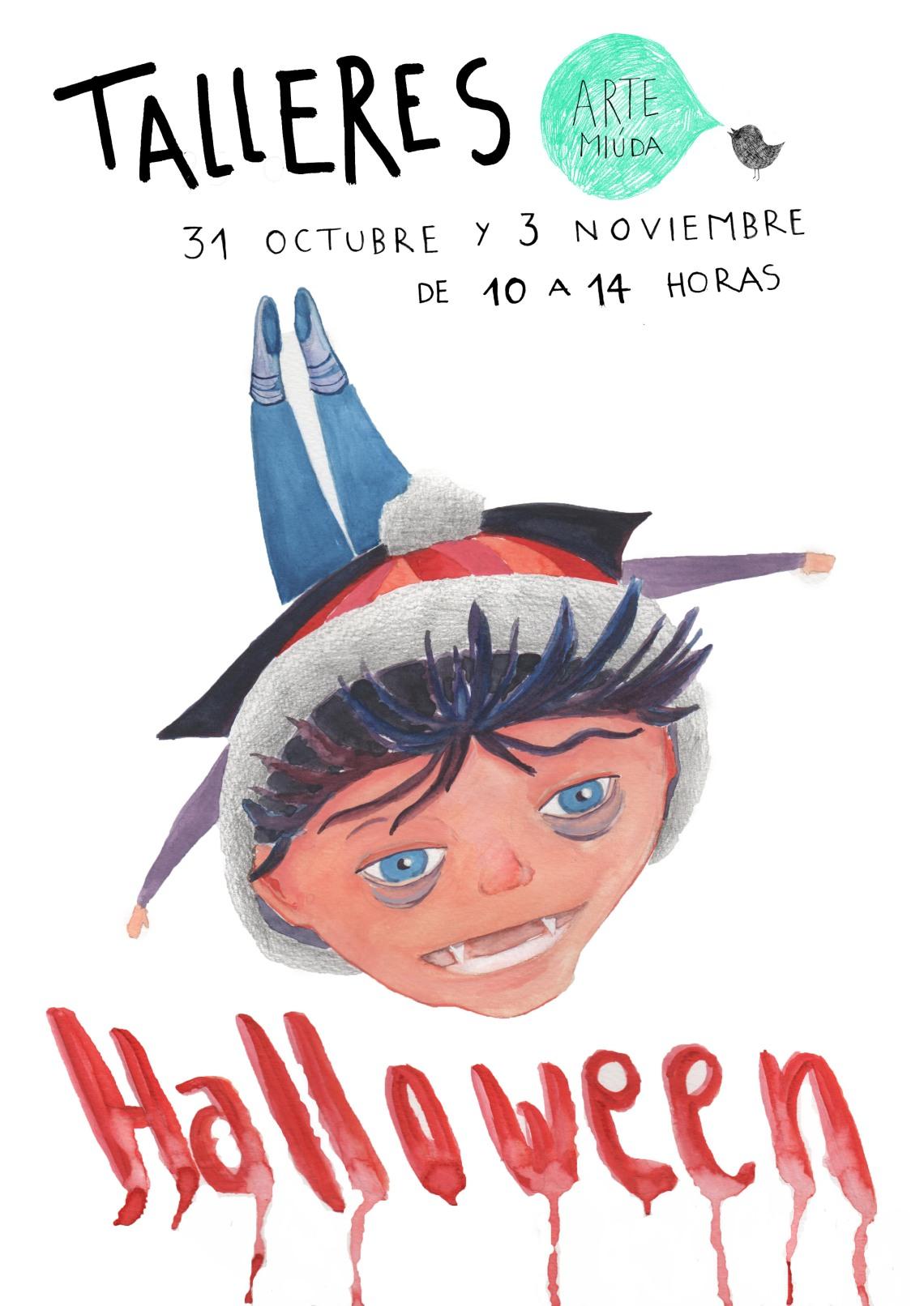 Halloweeen 2012 Arte MIúda.Cartel diseñado por Eila Pérez Vázquez, EILArts