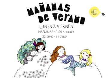©Arte Miúda Mañanas verano 2015. Ilustración Clara pisón López
