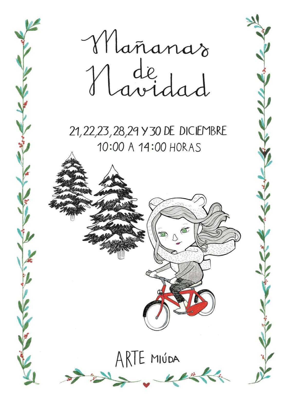 Navidad 2015, Arte Miúda, Cartel diseñado por Clara Pisón López