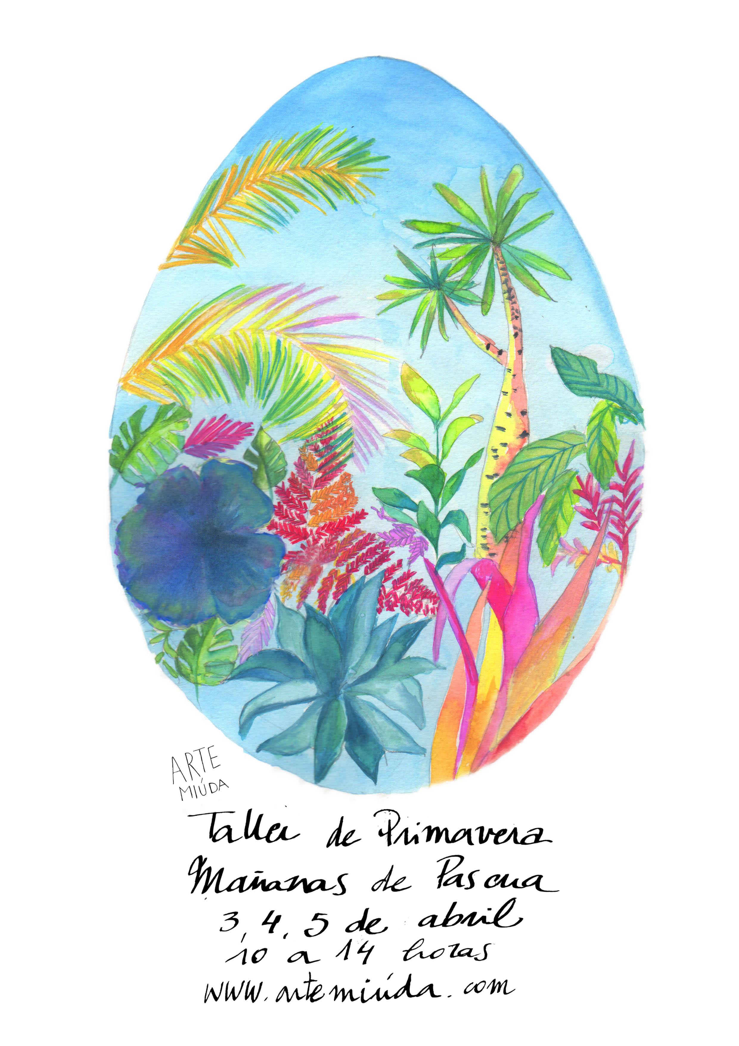 Cartel Pascua Arte Miúda 2017. Ilustración de Eila Pérez Vázquez